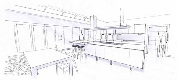 Kitchen-Design-Sketch